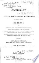 Baretti s Italian Dictionary