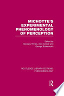Michotte s Experimental Phenomenology of Perception