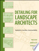 Detailing for Landscape Architects