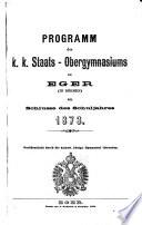 Jahresbericht des kaiserlich-königlichen Ober-Gymnasiums in Eger