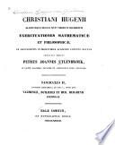 continens additaments ad fasc  I   inter quae vausmeslii  Duilierii et Hub  Huighenii epistolas