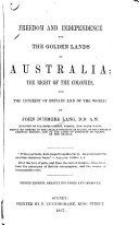 download ebook freedom and independence for the golden lands of australia pdf epub