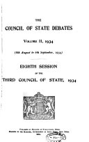 The Council of State Debates  official Report
