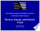 CMOSET 2013 Vol. 6: Devices, Energy, And Sensors Track : in whistler, canada....