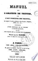 Manuel de l'amateur de truffes