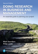 Doing research in business and management : an essential guide to planning your project