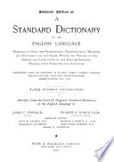 Students  Edition of a Standard Dictionary of the English Language