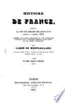 Histoire de France, depuis la fin du règne de Louis XVI jusqu'à l'année 1825