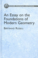 An Essay on the Foundations of Modern Geometry