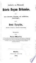 Gottfried's von Monmouth historia regum Britannie