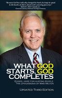 What God Starts God Completes