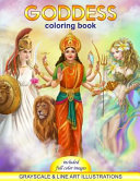 Goddess Coloring Book  Grayscale and Line Art Illustrations