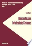 Hierarchische betriebliche Systeme