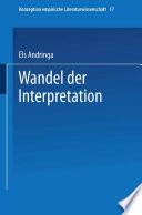 Wandel der Interpretation