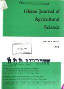Ghana Journal of Agricultural Science