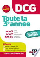 Dcg Toute La 3e Ann E Du Dcg 3 7 11 En Fiches R Vision