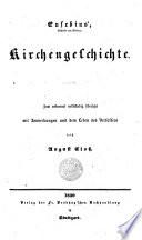Kirchengeschichte Zum Erstenmal Vollst Ndig Bers Und Mit Anm Vers Von August Clo