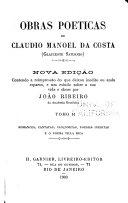 Obras poeticas de Claudio Manoel da Costa (Glauceste Saturnio)