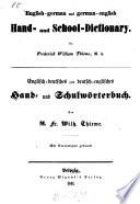 Englisch-deutsches und deutsch-englisches Hand- und Schulwörterbuch