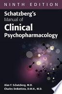 Schatzberg S Manual Of Clinical Psychopharmacology