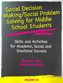 Social Decision Making Social Problem Solving For Middle School Students
