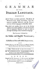 A grammar of the Italian language  In two parts     The second edition