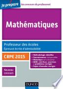 Mathématiques. Professeur des écoles. Ecrit admissibilité - 2015