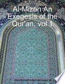 Al mizan an Exegesis of the Qur an