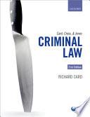 Card  Cross  and Jones  Criminal Law