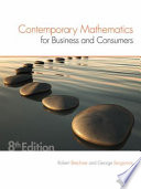 Contemporary Mathematics for Business   Consumers
