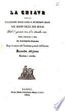 La chiave della collezione delle leggi e de' decreti reali del Regno delle Due Sicilie dal 1. gennaio 1824 al 31 dicembre 1837 opera compilata a cura di Giuseppe Morea