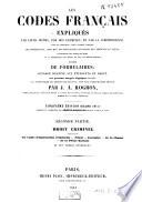 Les codes fran  ais expliqu  s par leurs motifs  par des exemples  et par la jurisprudence