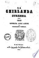 La ghirlanda strenna pel 1843 offerta agli amici da Ferdinando Tommasi