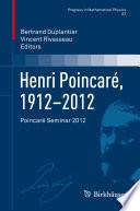 Henri Poincar 1912 2012