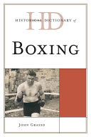 download ebook historical dictionary of boxing pdf epub