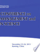 2013 International Conference on Complex Science Management and Education Science