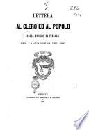 Lettera al clero ed al popolo della diocesi di Fiesole per la quaresima del 1866 Lorenzo Frescobaldi