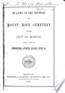 By-laws of the Trustees of Mount Hope Cemetery of the City of Boston