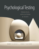 download ebook psychological testing: principles, applications, and issues pdf epub