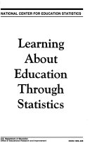 Learning About Education Through Statistics, April 1999