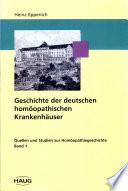 Geschichte der deutschen homöopathischen Krankenhäuser