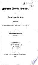 Johann Georg Stuber, der Vorgänger Oberlin's im Steinthale und Vorkämpfer einer neuen Zeit in Strassburg