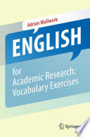 English for Academic Research  Vocabulary Exercises