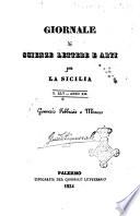 Giornale di scienze, lettere e arti per la Sicilia