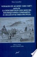 Voyages en Acadie  1604 1607