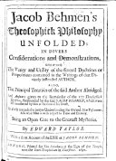 download ebook jacob behmen\'s theosophick philosophy unfolded ... also the principal treatises of the said author abridged. and answers given to the remainder of the 177 theosophick questions ... left unanswered by him at the time of his death ... by edward taylor. with a short account of the life of jacob behmen. [with a portrait.] pdf epub