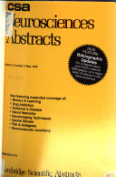 C S A Neurosciences Abstracts book