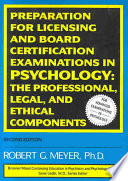 Preparation For Licensing And Board Certification Examinations In Psychology