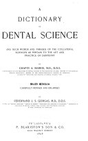A Dictionary of Dental Science
