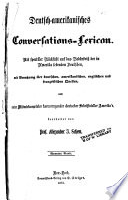 Deutsch-amerikanisches Conversations-Lexicon